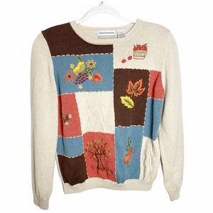Alfred Dunner Petite Fall Autumn Teacher Sweater M
